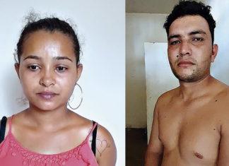 Lindalva e Rômulo foram presos em flagrante na tarde de ontem