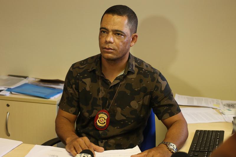 O delegado Ivan Pinto investiga o caso junto com a equipe da divisão de homicídios de Marabá. (Foto: Evangelista Rocha)