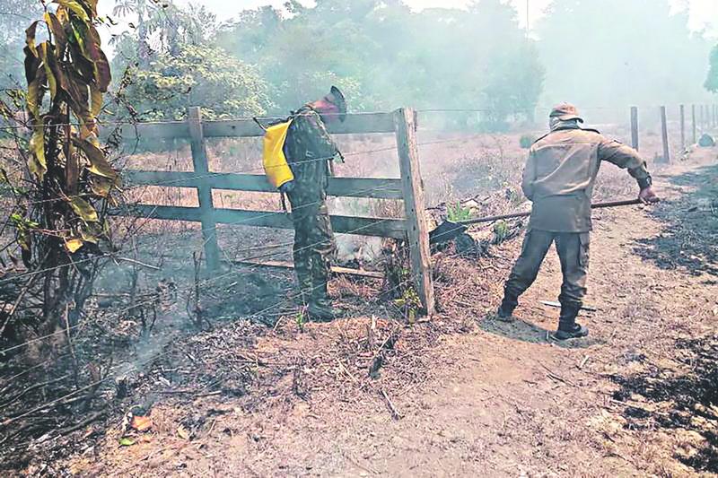 Combate a incêndio Continua em Marabá