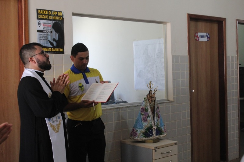 Imagem Peregrina visita órgãos públicos em Canaã e Parauapebas