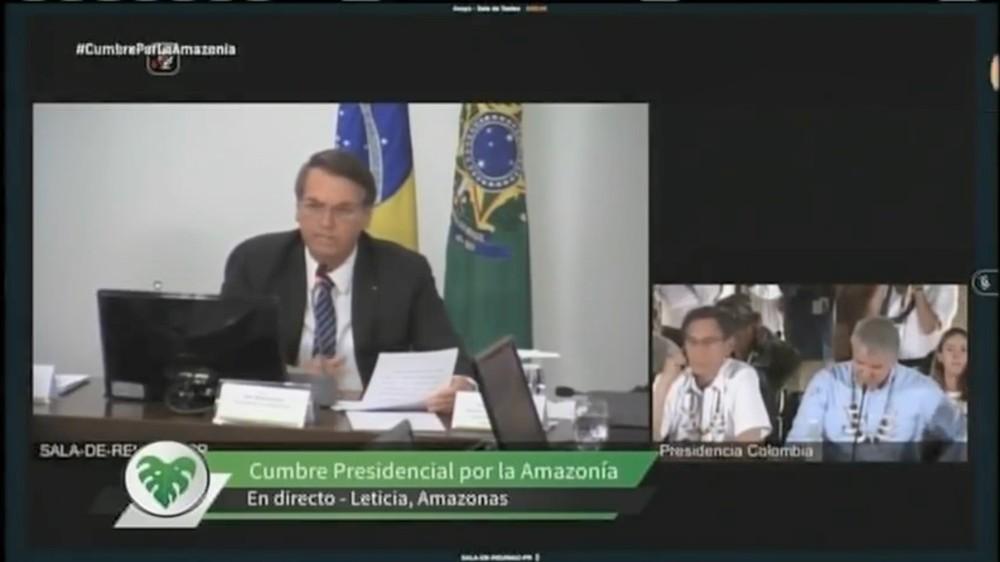 Bolsonaro participa por vídeo de reunião com presidentes de países amazônicos