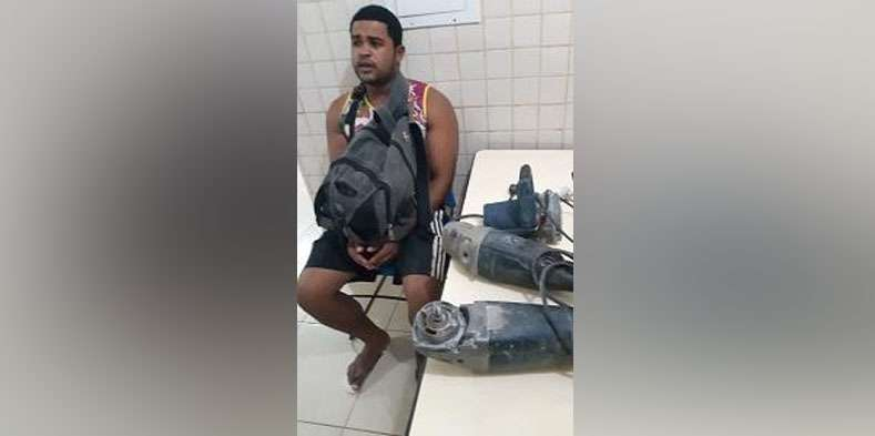 Funcionário é preso acusado de furtar equipamentos de marmoraria